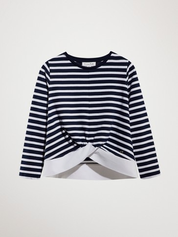 NAUTICAL STRIPE T-SHIRT WITH KNOT
