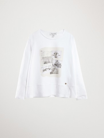KATOENEN T-SHIRT SAVANNAH