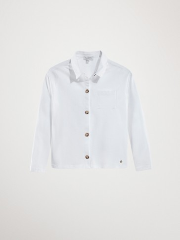COTTON SHIRT WITH A POCKET
