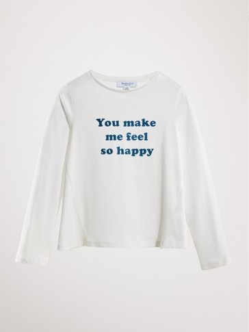 YOU MAKE ME FEEL SO HAPPY COTTON T-SHIRT