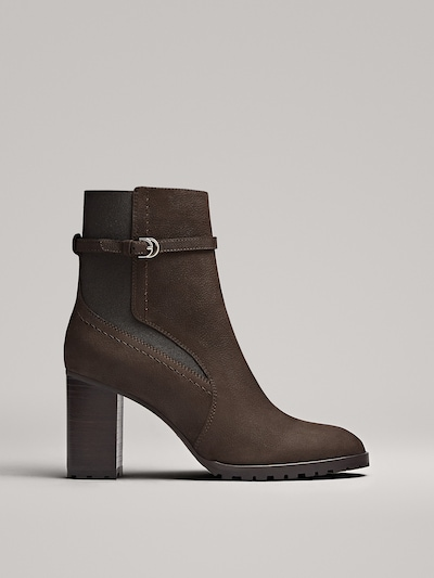 dbcd704c8e BROWN HIGH-HEEL ANKLE BOOTS