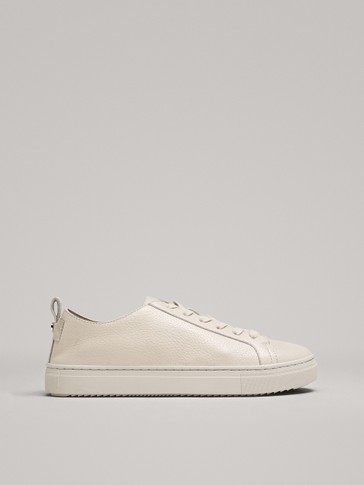 TUMBLED LEATHER PLIMSOLLS