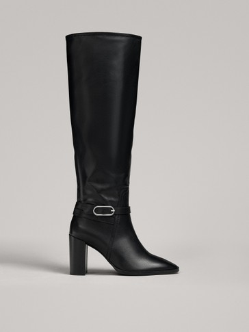 HIGH HEEL BOOTS WITH BUCKLE
