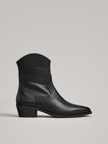BOTTINES NOIRES STYLE COW-BOY