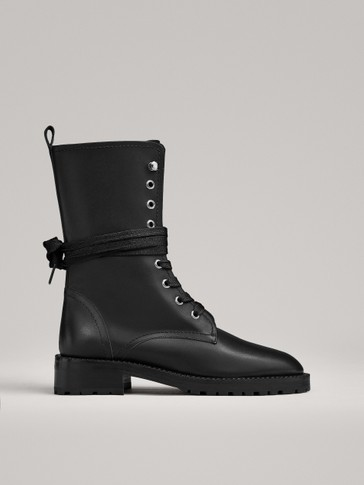 BLACK LACE-UP BOOTS LIMITED EDITION