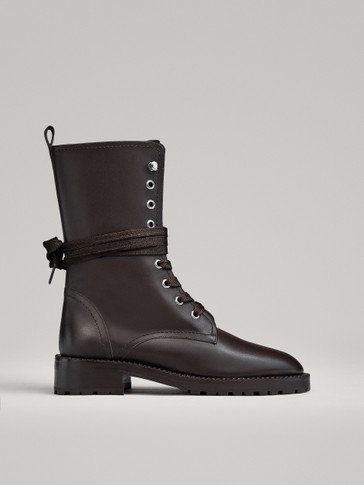 BROWN LACE-UP BOOTS LIMITED EDITION