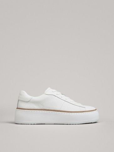 PLATFORM TRAINERS WITH CONTRAST WELT