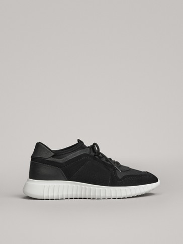 BLACK SOCK-STYLE TRAINERS