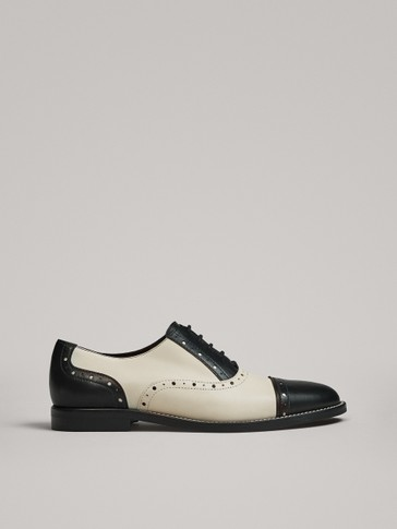 TWO-TONE LACE-UP SHOES