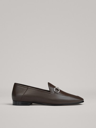BROWN LOAFERS WITH BUCKLE