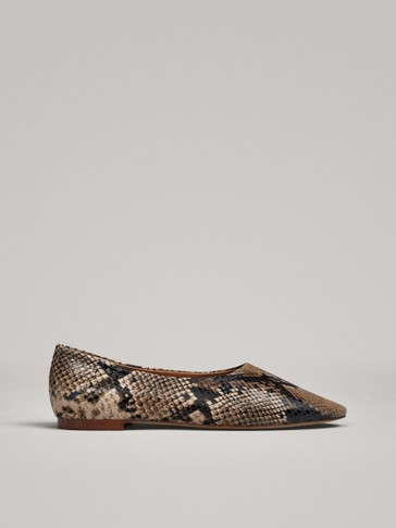 BALLERINAS MIT ANIMALPRINT