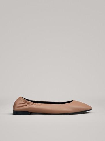 حذاء مسطح باليرينا وردي مطاطي