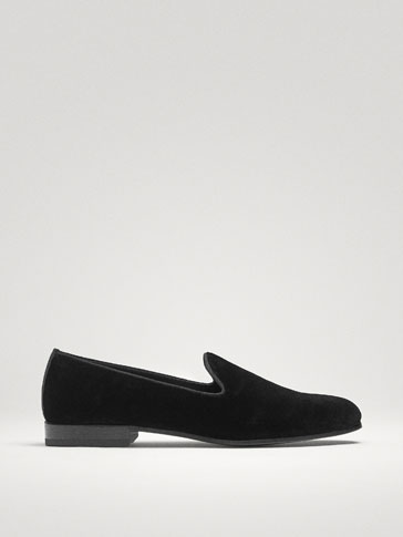 SLIPPER VELOURS NOIR