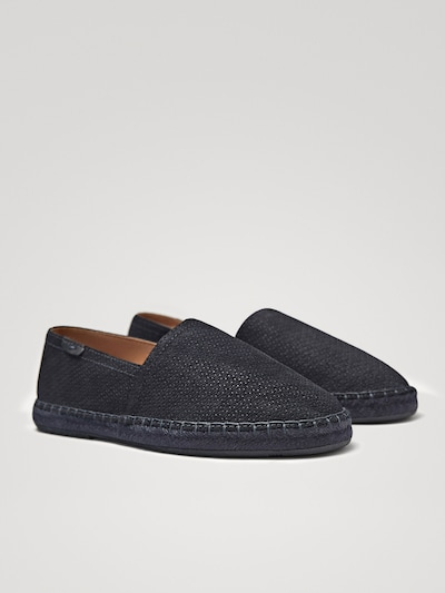 906385e8883 BLUE LEATHER ESPADRILLES