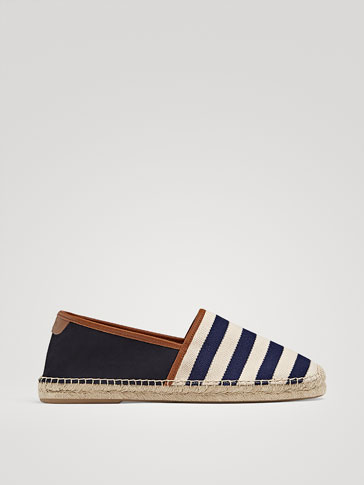STRIPED CONTRAST ESPADRILLES