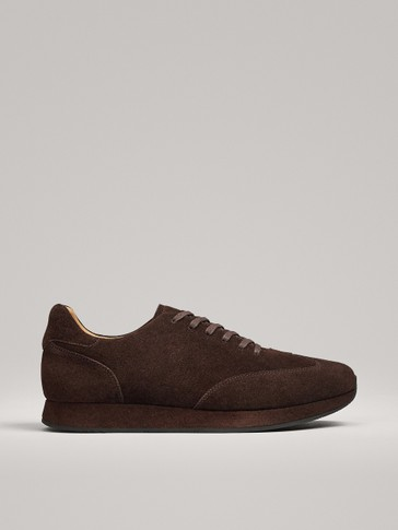 LIMITED EDITION BROWN SPLIT SUEDE TRAINERS