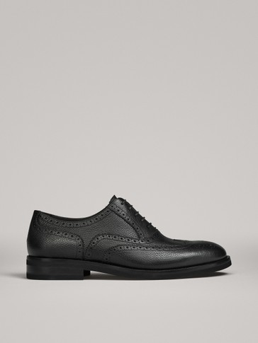 BLACK NAPPA BROGUES