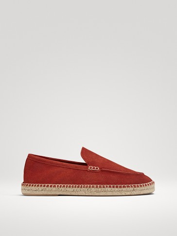 ESPADRILLAS IN PELLE SCAMOSCIATA COLOR MATTONE