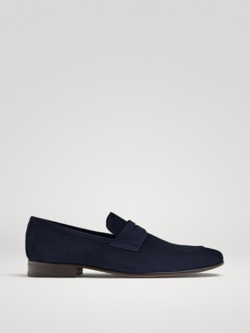 LIMITED EDITION BLUE SPLIT SUEDE LOAFERS