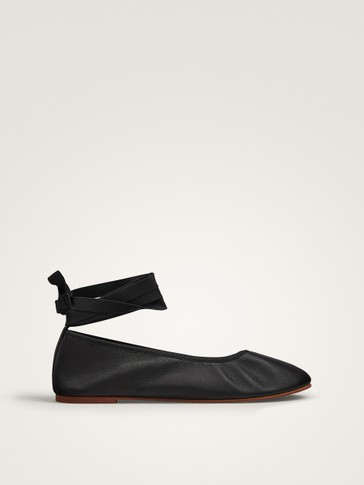 SOFT NAPPA LEATHER BALLERINAS