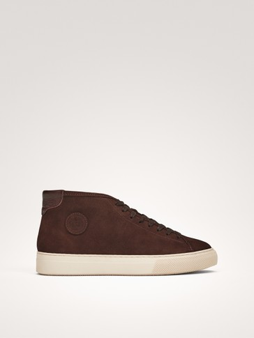 SPLIT SUEDE HIGH-TOP TRAINERS