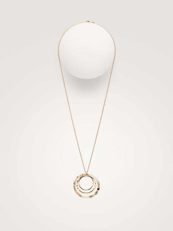 Massimo Dutti - TRIPLE HOOP NECKLACE - 3