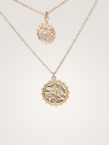 DOUBLE-STRAND COIN NECKLACE