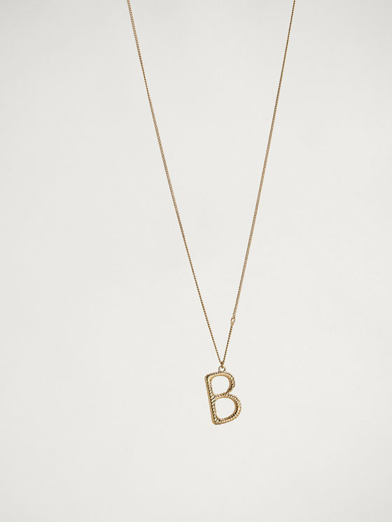 Massimo Dutti - ONLINE EXCLUSIVE LETTER B NECKLACE - 1