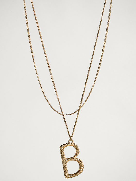 Massimo Dutti - ONLINE EXCLUSIVE LETTER B NECKLACE - 2