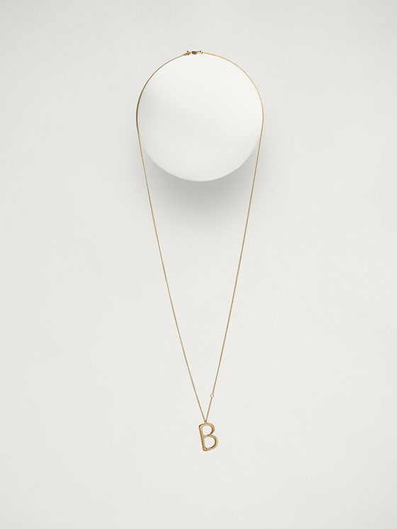 Massimo Dutti - ONLINE EXCLUSIVE LETTER B NECKLACE - 3