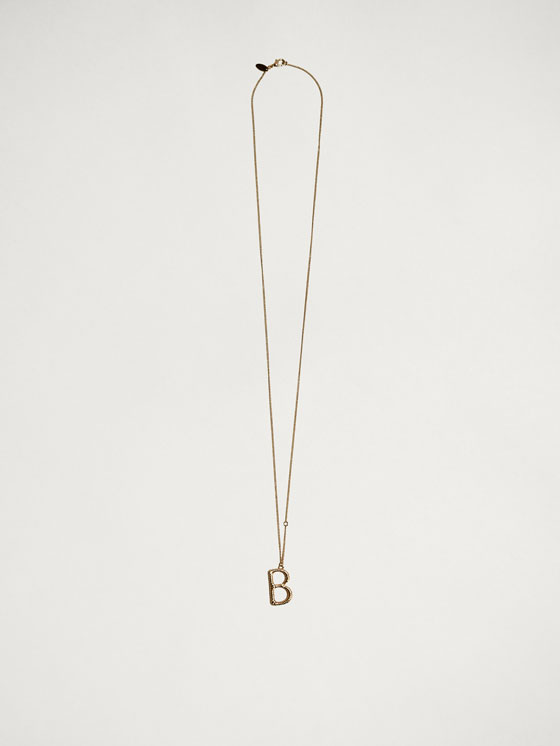 Massimo Dutti - ONLINE EXCLUSIVE LETTER B NECKLACE - 5