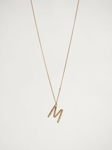 ONLINE EXCLUSIVE LETTER M NECKLACE