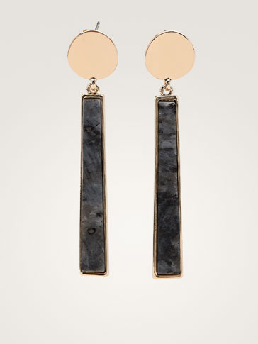 COIN AND STONE EARRINGS