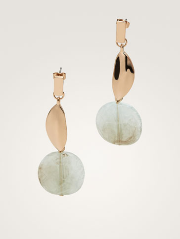 LEAF AND PENDANT EARRINGS
