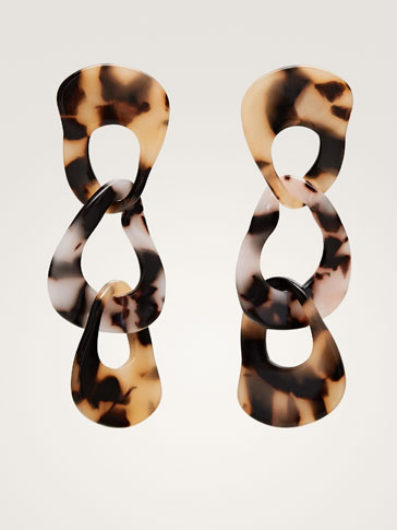 TORTOISESHELL LINK EARRINGS