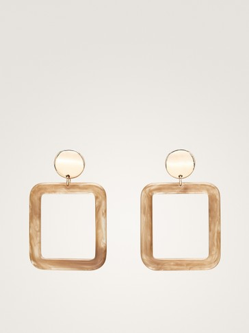 SQUARE PIECE EARRINGS