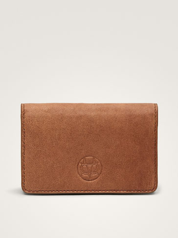 TWO-TONE LEATHER CARD HOLDER