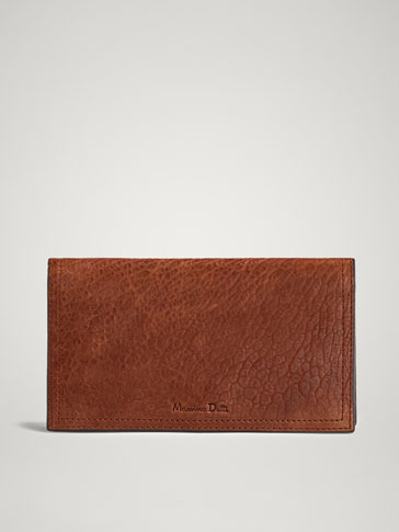 TEXTURED LEATHER PURSE-CARD HOLDER