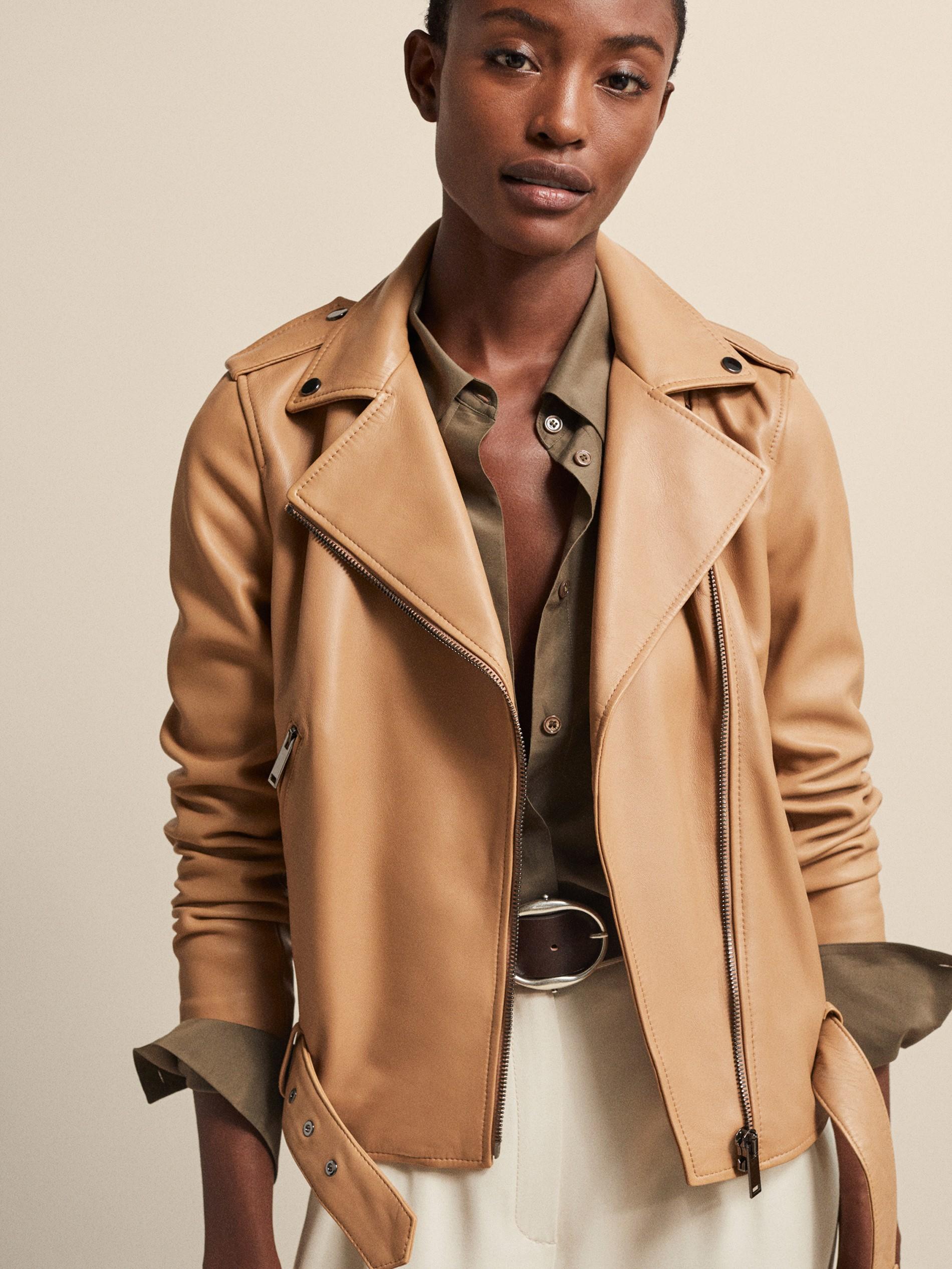 Manteau peau lainee femme