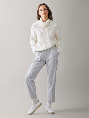 DARTED WOOL JOGGING TROUSERS