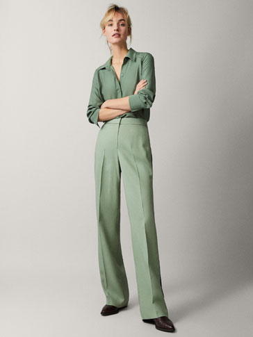WIDE FIT TROUSERS WITH SIDE STRIPES