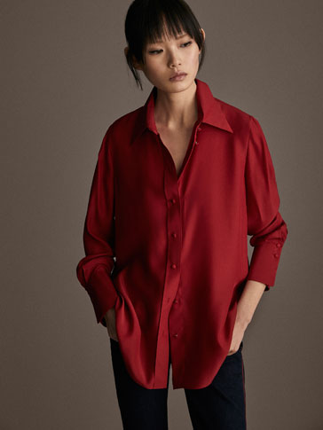 PLAIN 100% SILK SHIRT