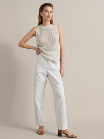 Cotton Cargo Jogging Trousers by Massimo Dutti