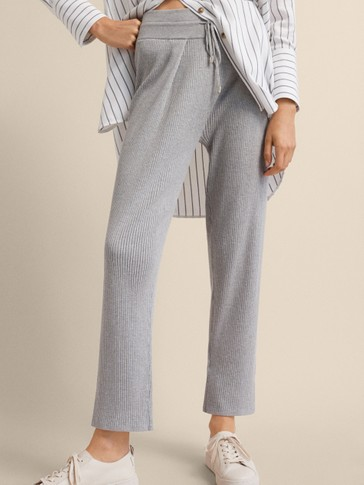 RIBBED JOGGING FIT TROUSERS