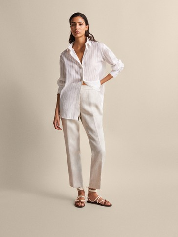 6f47f86876f3a2 Trousers - SALE - WOMEN - Massimo Dutti - United Kingdom