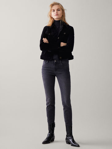 Jeans Mid Rise Skinny Fit by Massimo Dutti