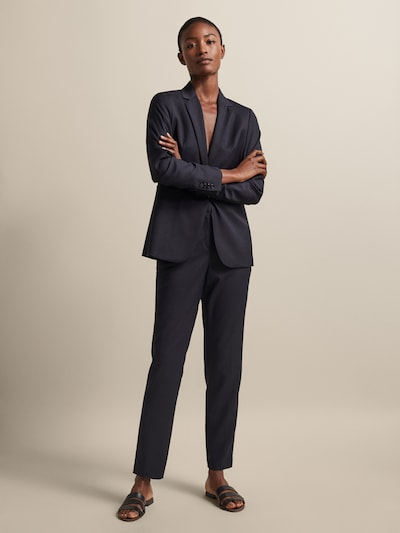 e12a6145a4ed SLIM FIT TEXTURED WEAVE WOOL TROUSERS - Women - Massimo Dutti