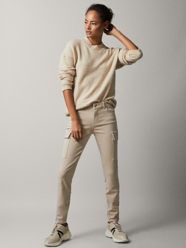 MID-RISE SKINNY CARGO TROUSERS