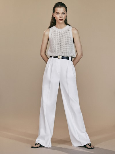 d35090f4cc6 View all - Trousers - COLLECTION - WOMEN - Massimo Dutti - United States