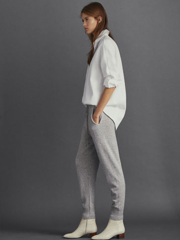 PLAIN 100% CASHMERE JOGGING TROUSERS